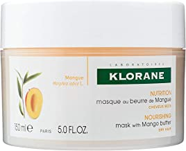 Klorane Nourishing Mask with Mango Butter, Deep Conditioning Treatment, Moisturize & Hydrate Dry Hair, Paraben, Silicone, Sulfate, Sodium Chloride Free, 5 oz.