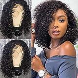 TOOCCI Perruque Lace Wigs Cheveux Humains Perruques Bouclés Pour les Femmes Noires Remy Brésilien 180% Densité 14 Pouces