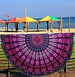 Aakriti Gallery Housse de Coussin Rond de méditation à Poser au Sol