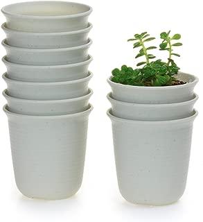 T4U 2.5 Inch Plastic Round Succulent Plant Pot/Cactus Plant Pot Flower Pot/Container/Planter Package 1 Pack of 10