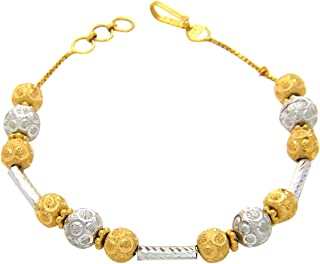 Popleys 22k (916) Yellow Gold Strand Bracelet