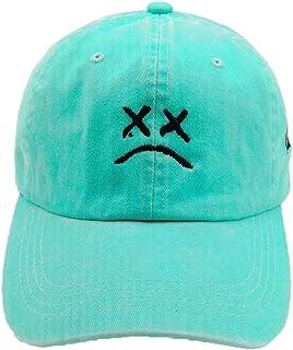 أزياء المنزل DIY حزين الأولاد قابل للتعديل قبعة يبكي الوجه التطريز قبعة بيسبول أبي قبعة الهيب هوب كاب أسود