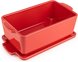 Peugeot Appolia Covered Terrine Dish, 6.1 x 3.6 x 2.4 inch interior, Red