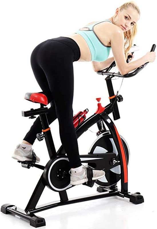 Indoor Exercise Bike Stationary Automatically Scan Cycling Bike Trainer With A Monitor Ultra Quiet Exercise Bike Home Bicycle Fitness Equipment Black 41inch 9inch 31inch