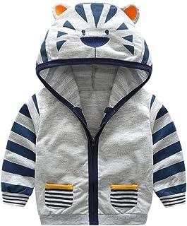 Veste à Capuche Vêtements Enfant Bébé Garçon Mignonne, Hoody Coat en Coton Chaud Baby Boy Tops Automne Hiver Manteau avec ...
