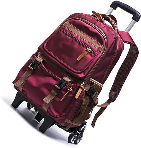 R r Rollen Rucksack Kinder Tasche - Elementary Students Trolley Schulranzen(Rot 6 R r)