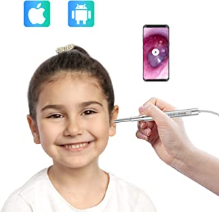Digital Otoscope for iPhone, Teslong New Upgrade 4.3mm Ultra-Slim Visual Ear Cleaner with Adapter, Earwax Removal Tool, Washable Speculum Tips and Carrying Bag
