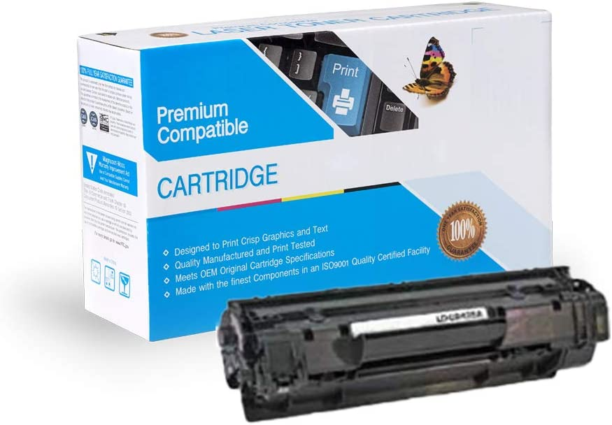 2 Pack Replacement Black Toners Compatible with HP 35A, CB435A, Laserjet P1002 / P1003 / P1004 / P1005