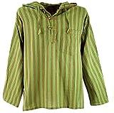 GURU SHOP Nepal Hemd, Goa Hippie Sweatshirt - Grün, Herren, Baumwolle, Size:48, Sweatshirts & Hoodies Alternative Bekleidung