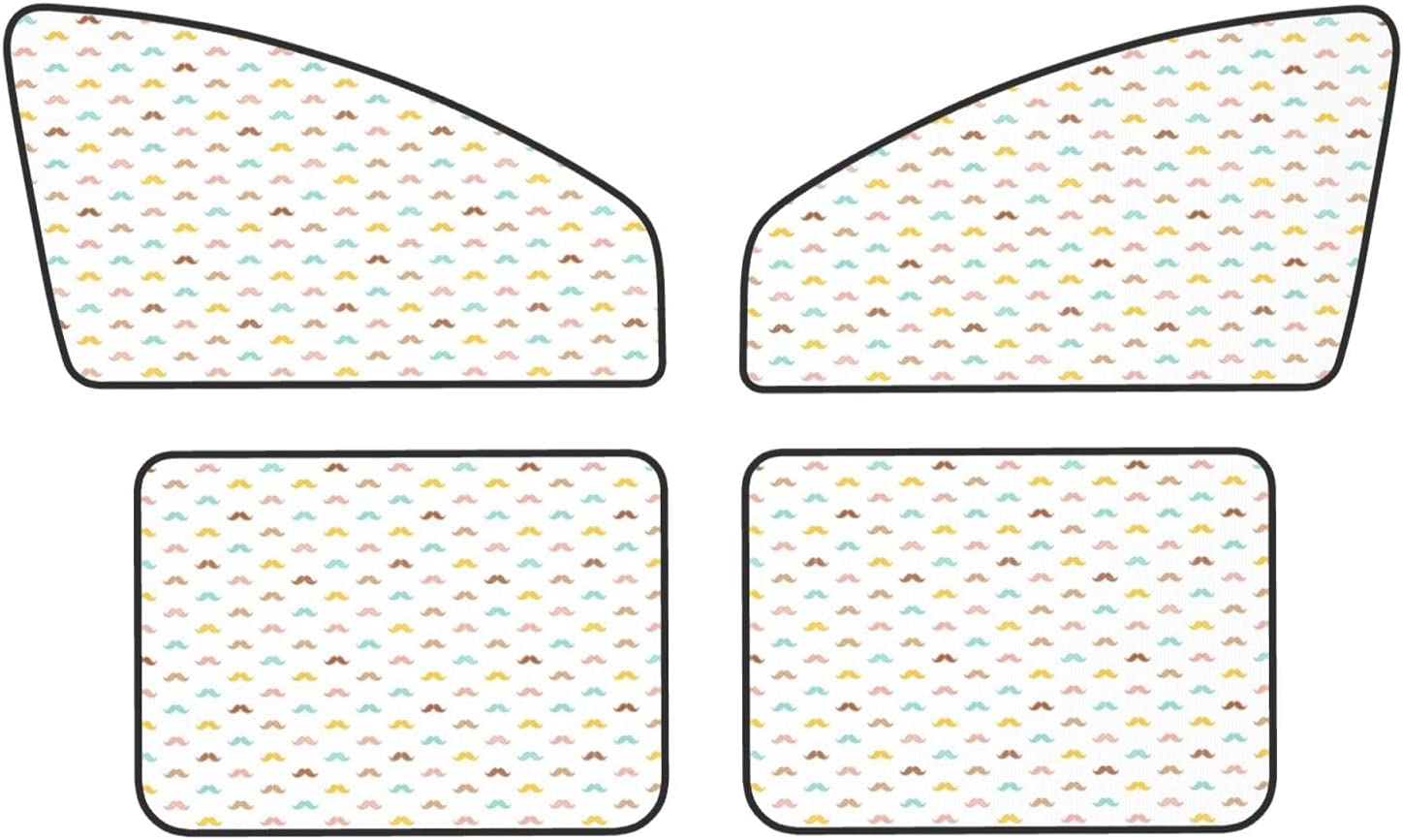 Car Window Shade Fresno Mall Colorful Cute Long Beach Mall Piece 4 Magnetic Set Mustache