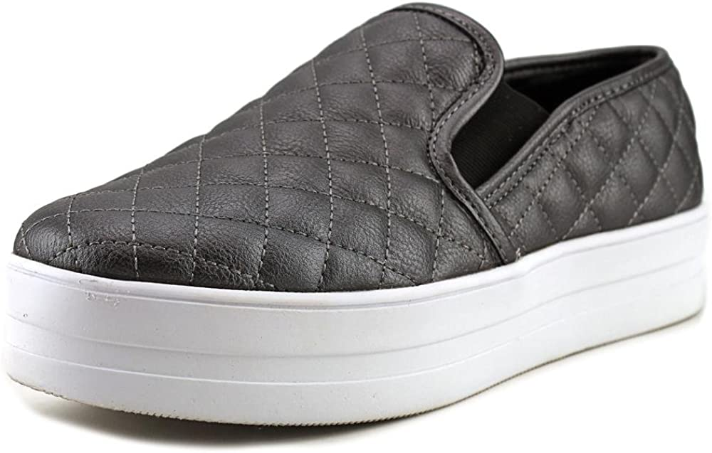 Madden Girl Women's Playaa Round Toe Fashion Sneakers, Pewter, Size 8.5