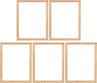 KESYOO 5Pcs Rustic Wooden Picture Frame 30X40CM Unfinished DIY Photo Frames L Shape Picture Painting Inner Frames Farmhous...