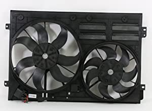 Dual Radiator and Condenser Fan Assembly - Cooling Direct For/Fit VW3117106 05-07 Volkswagen VW Jetta 1.9L 09-10 Jetta 2.0L 06-08 GTI Passat 2.0/3.6L