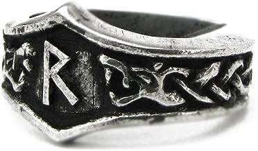 Runic Ring -Futhark Unisex Viking Pewter Adjustable