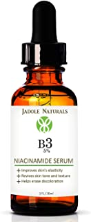 Jadole Naturals Niacinamide Vitamin B3 Serum for Face 5%- 1 Oz - Visibly Beautify Pores and Wrinkles and Other Signs of Ag...