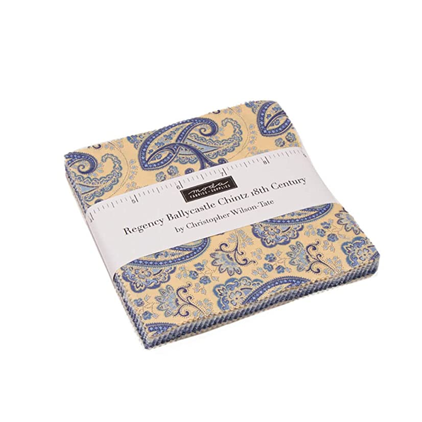 Regency Ballycastle Chintz Mini Charm Pack by Christopher Wilson Tate; 42-2.5 Inch Precut Fabric Quilt Squares