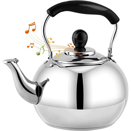 Color : Blue, Size : 1L ZDVHM Stainless Steel Gas Kettle Light Weight Whistling Kettle With Traditional Spout Hob Or Stove Top Teapot Coffee Pot