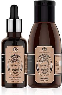 The Man Company Oil for Beard Moustache and Mooch - 30 ml (Argan and Geranium) with Beard Wash - 100 ml