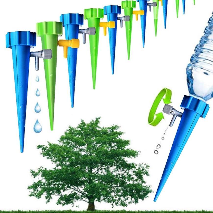 人見出しイタリアのHENAN 12PCS /たくさんの自動灌漑ツールスパイク自動フラワー植物園には、便利なセルフじょうろデバイス用品