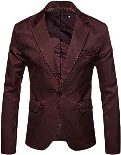 Sweetmini Men Slim Classic One Button Sport Coat Blazer Suit Jackets