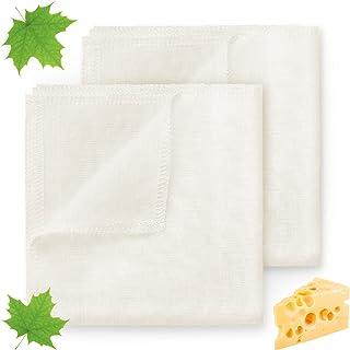 ecooe Ściereczka do przecierania 100% len 50 x 50 cm odporny na rozdarcie filtr do mleka orzechowego, sera, soku i zupy (2...