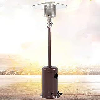 BestMassage Patio Heater Tall Hammered Finish Garden Outdoor Heater Propane Standing LP Gas Steel w/Accessories