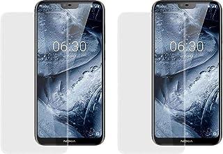 2 قطعة من واقيات الشاشة الناعمة والمرنة لهاتف نوكيا 6.1 بلس (اكس 6) مضاد للتشقق وبتقنية النانو - لون شفاف