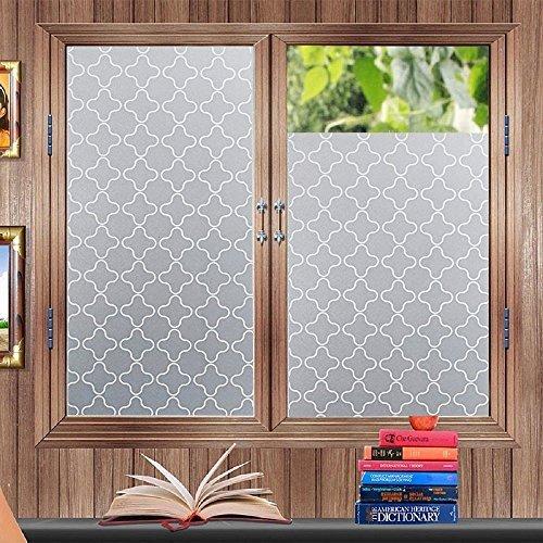 Lifetree Fensterfolie Sichtschutzfolie Dekorfolie Statische Folie 45 * 200cm für Schlafzimmer Badezimmer Wohnzimmer Büro Zimmer