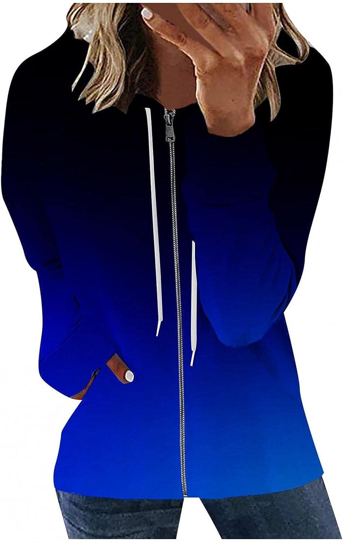 Masbird Hoodies for Women, Womens Casual Long Sleeve Hoodies Drawstring Hooded Jacket Zip Up Sweatshirts with Pockets