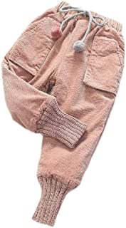 Etecredpow Mens Thick Stretchy Trousers High Waisted Autumn Winter Corduroy Stylish Pants