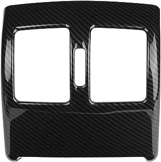 Cuque Car Rear Air Outlet Trim ABS Carbon fiber Style Auto Rear Vent Cover Sticker Accessories Rear Air Condition Outlet V...