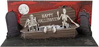 Up With Paper Pop-Up Panoramics Light-Up Greeting Card - Skeleton Coffin