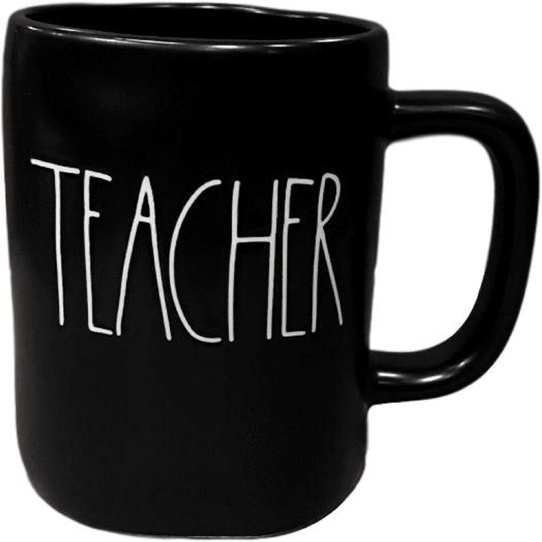 Rae Dunn by Gifts Magenta Ceramic Mugs Black Teacher Alternative dealer