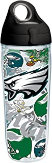 Tervis NFL Philadelphia Eagles All Over Tumbler with Wrap and Black with Gray Lid 24oz Water Bottle, Clear