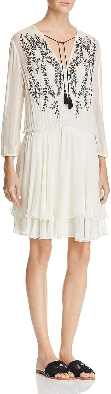 Ella Moss Womens Trellis Vine Embroidered Sheath Casual Dress