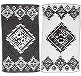 Bersuse Handloom Handtuch Südwest 39X71 Inches schwarz