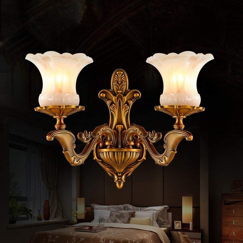 LQB Voller Kupfer European Wall Lamp Wohnzimmer Lampe Schlafzimmer Nachttischlampen Nachttischlampen Nachttischlampen Retro Nachahmung Marmor Wandleuchte Korridor Ganglichter B07G82HB6B | Überlegene Qualität  f9e084