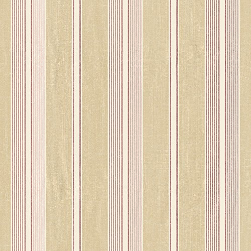 Norwall SD36116 Cushion Stripe Prepasted Wallpaper, Multi