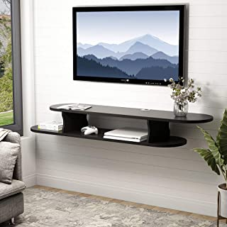 modern wall mounted media console