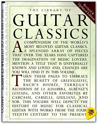 Library Of Guitar Classics - Sammlung bekannter klassischer Gitarrenstücke für Gitarre solo - Notenbuch mit Dunlop Plek - Verlag Music Sales - AM928950-9780825614750