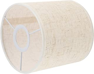 FRCOLOR Tissu lampe ombre tambour cylindre en forme de clip sur l'écran de la lampe petit arbre abat-jour de la lampe de p...