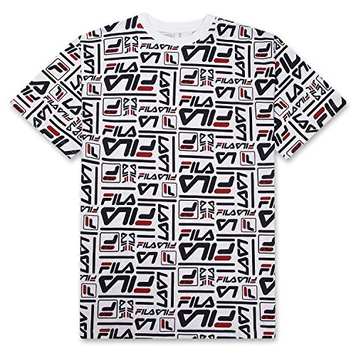 Fila Mens Big and Tall Cotton Jersey Fashion Allover Print Logo Short Sleeve T Shirt