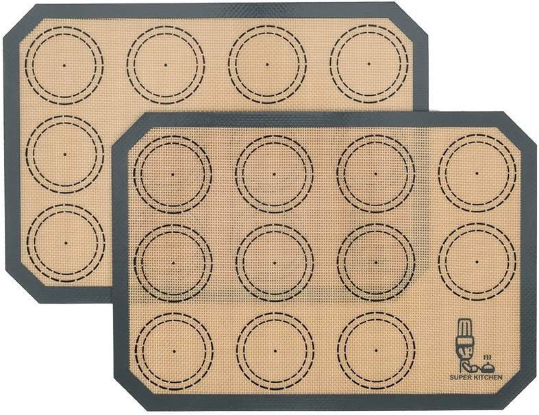 Non Stick Silicone Baking Mats Set Super special price Macaron - 2 Complete Free Shipping Sma Sheet Quarter