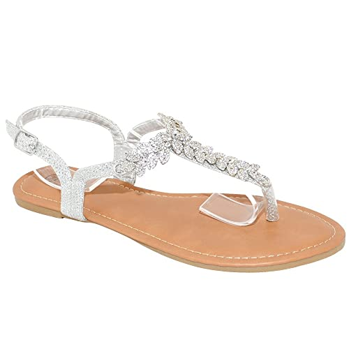 217d5336e25 TRENDSup Collection Womens T-Strap Buckle Flats Sandals