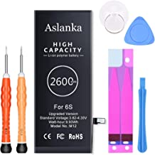 Aslanka Battery for iPhone 6s, All New 0 Cycle 2600mAh...