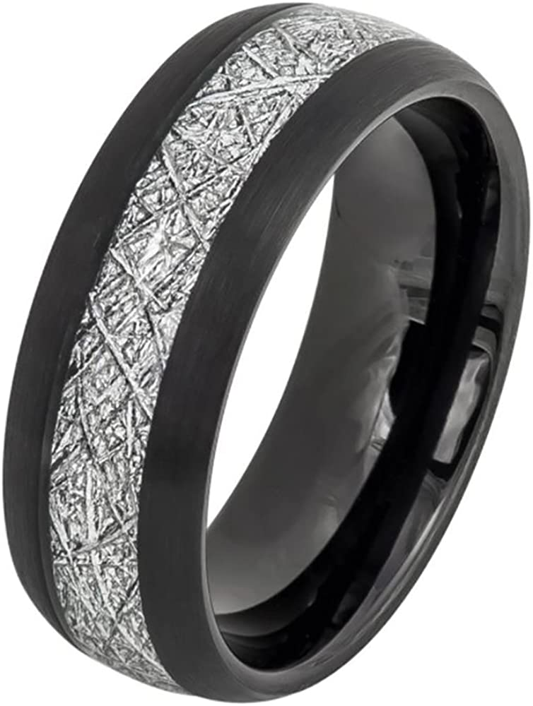 Double Accent 8MM Comfort Fit Classic Band San Jose Mall Tungsten Wedding Dome Carbide