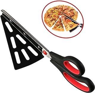 flintronic Kitchen Pizzaschere Scharfen Klingen, Pizzaschneider mit Pizzaheber Edelstahl,..