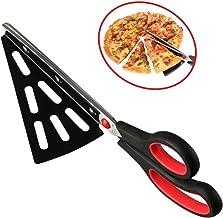 flintronic Kitchen Pizzaschere Scharfen Klingen, Pizzaschneider mit Pizzaheber Edelstahl, Pizza-Schere/Pizzamesser