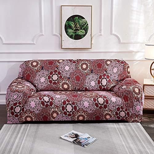 WXQY Fundas de sofá elásticas elásticas para la Sala de Estar Toalla de sofá Estilo Bohemia Totalmente Envuelto Antipolvo Toalla de sofá Armchair Funda de sofá A11 2 plazas