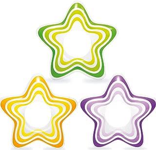 Intex Inflatable Star Rings, Three Colors, Yellow, Purple, Green, 29